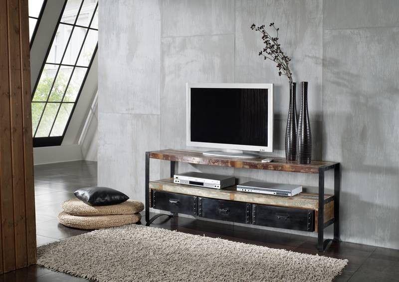 Wohnzimmer Industrial ~ Industrial tv board eisen u altholz jetzt bestellen unter