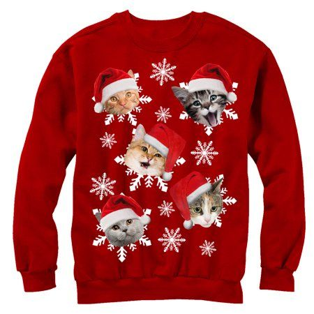 Free Shipping Buy Lost Gods Ugly Christmas Sweater Cat Snowflakes