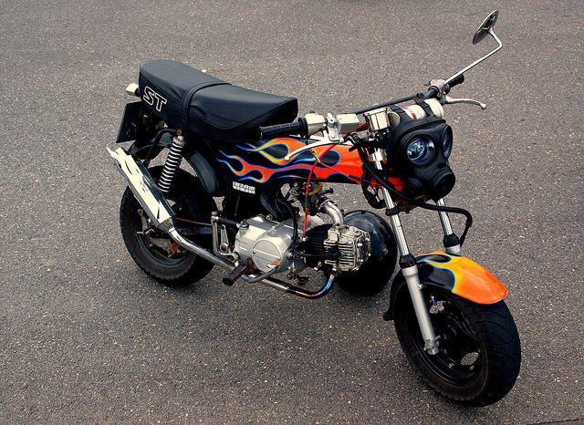 Flaming Hot Monkey Bike Mini Bike Bike