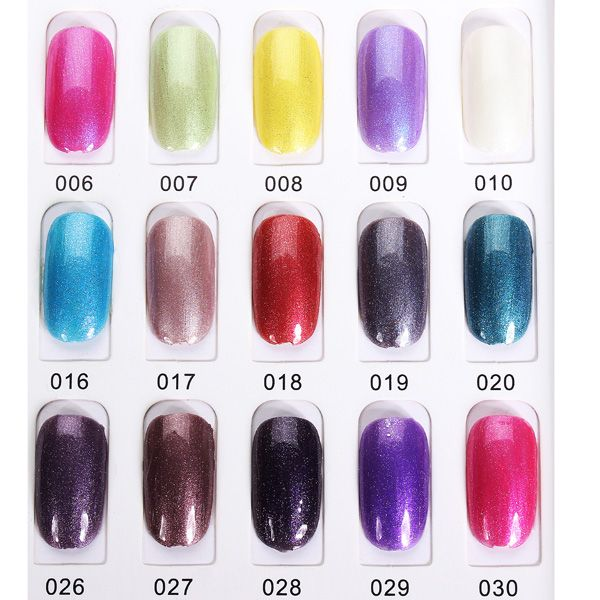 Oujingjia 001 030 Glitter Colors Soak Off Uv Gel Nail Polish 15ml