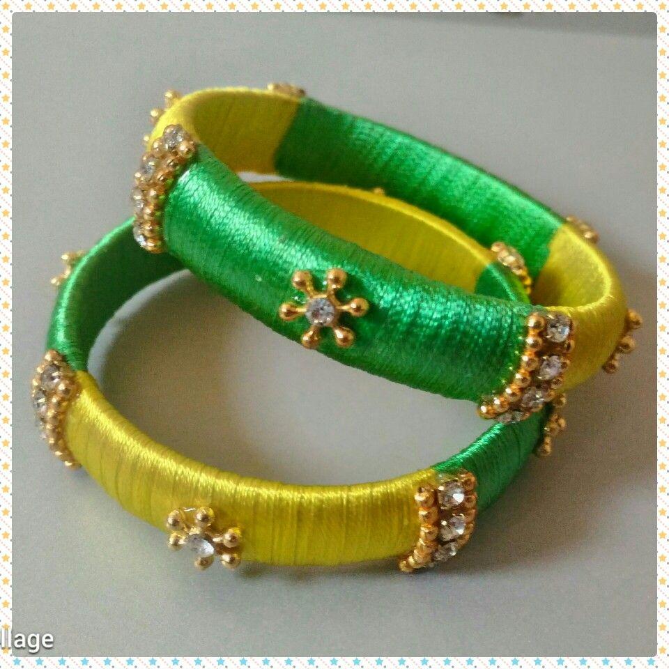 Baby Silk Thread Bangles.. TulleByAlekya.. Silk Thread Jewellery ...