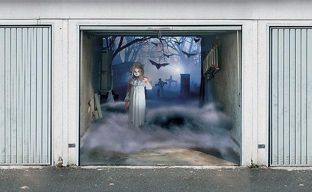 Pin by Hela Vičarová on walldesign Pinterest - scary door decorations for halloween