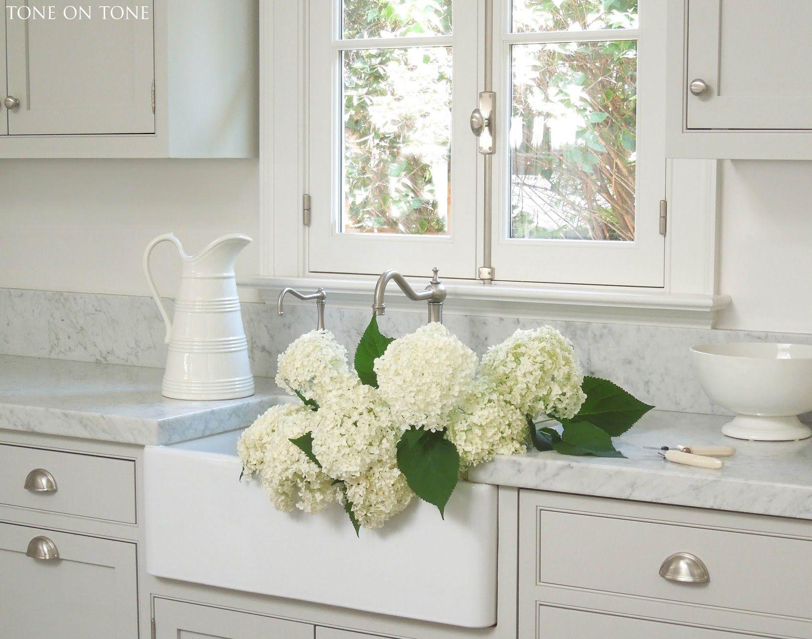 Tone on Tone. Our kitchen with gray Carrara
