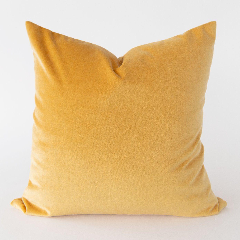Mason Velvet 20x20 Pillow Sunshine Yellow Yellow Pillows Yellow Throw Pillows Bed Linens Luxury