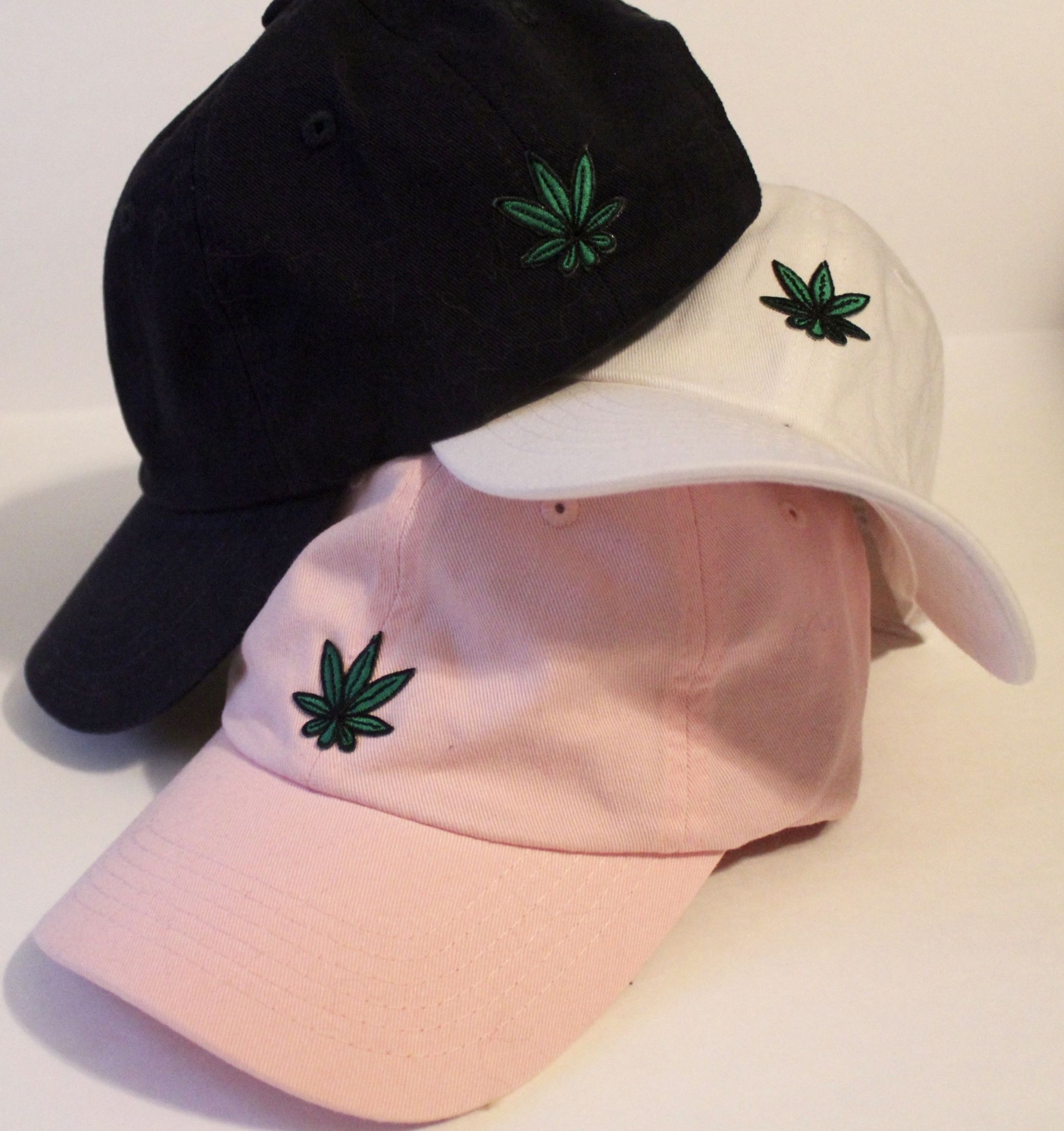 Women s small-fit baseball cap. Light pink color with weed patch.   smallheadproblems  lidlehats  lidle  xsbaseballhat  xsbaseballcap   smallheadhat   ... a4cd46de4f5