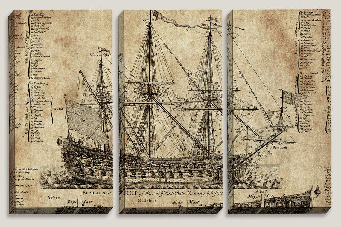 Sale old ship blueprint canvas art nautical map boys by joellejoy sale old ship blueprint canvas art nautical map boys by joellejoy malvernweather Gallery