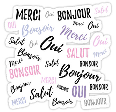 French Words Sticker By Adele Mawhinney In 2020 French