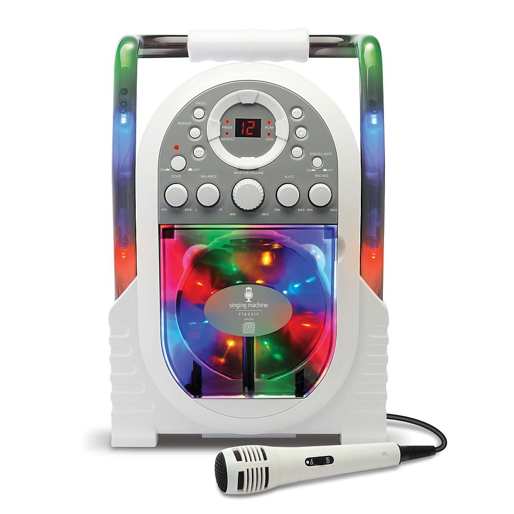 Singing Machine Portable Karaoke With Built In Light Show