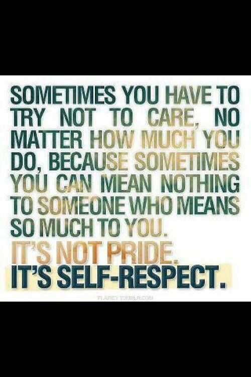 how to have respect for yourself in a relationship