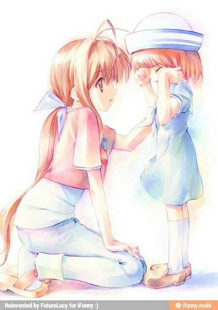 Mom And Daughter Anime Clannad Anime Clannad Anime