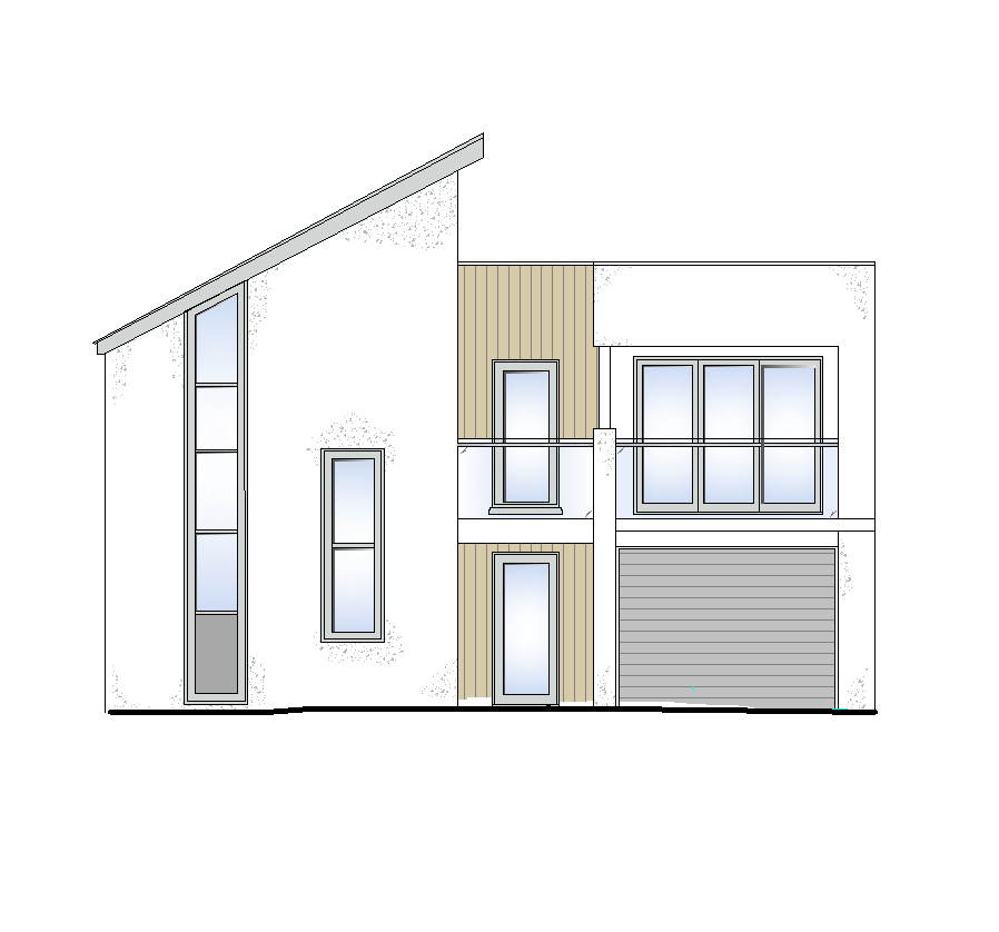 Modern house elevation drawings l for Easy house design software