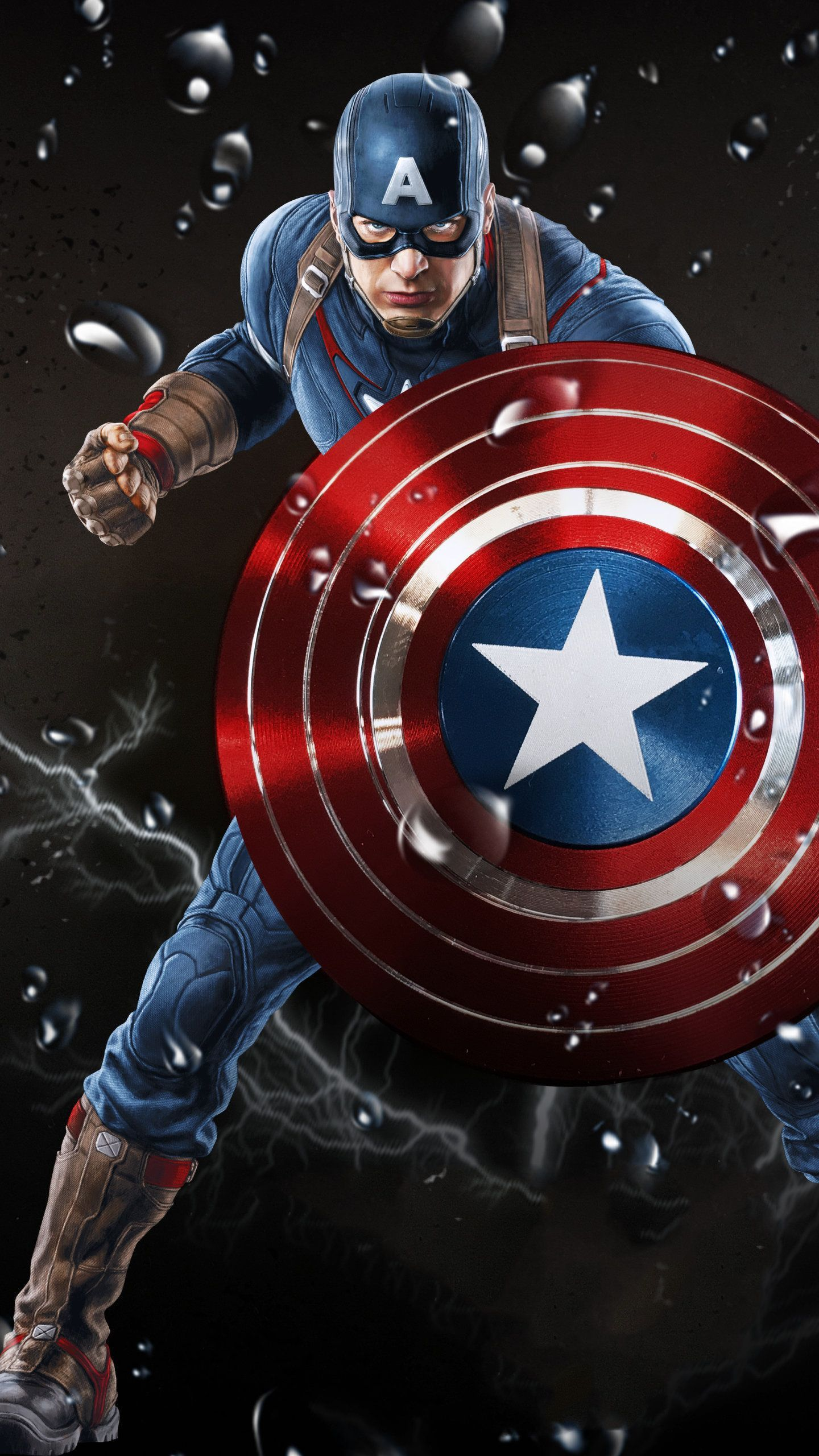 Captain America Wallpaper 4k Hd Captain America Wallpaper Captain America Art Marvel Comics Wallpaper