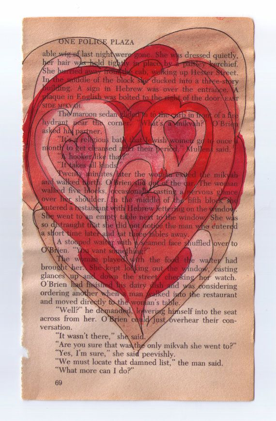 The Many Pieces Of My Heart Original Watercolor By