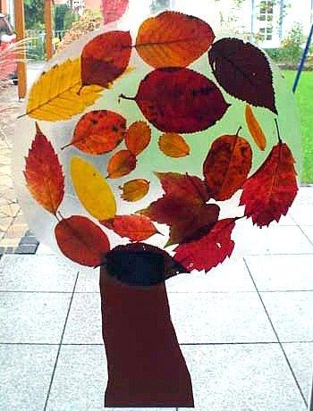 Fensterbilder natur basteln meine enkel und ich made for Angebote kindergarten herbst