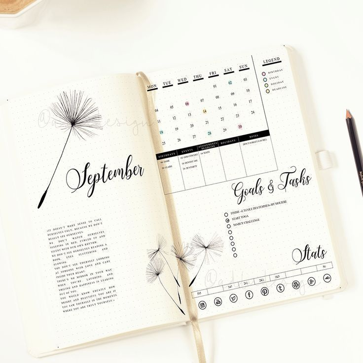 Dandelion Monthly Log Printable, Bullet Journal Insert, Monthly Layout, Bujo Spread, Functional Stickers, Months Stickers