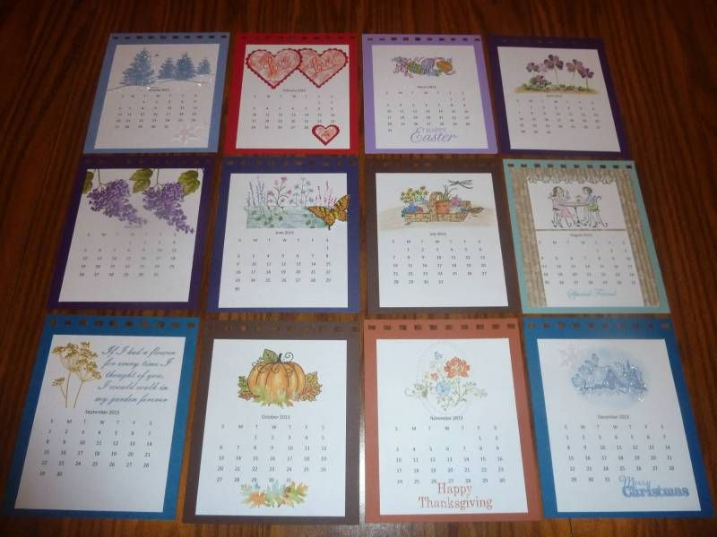 Mor E Calendar Pages By Art Deco Diva Cards And Paper