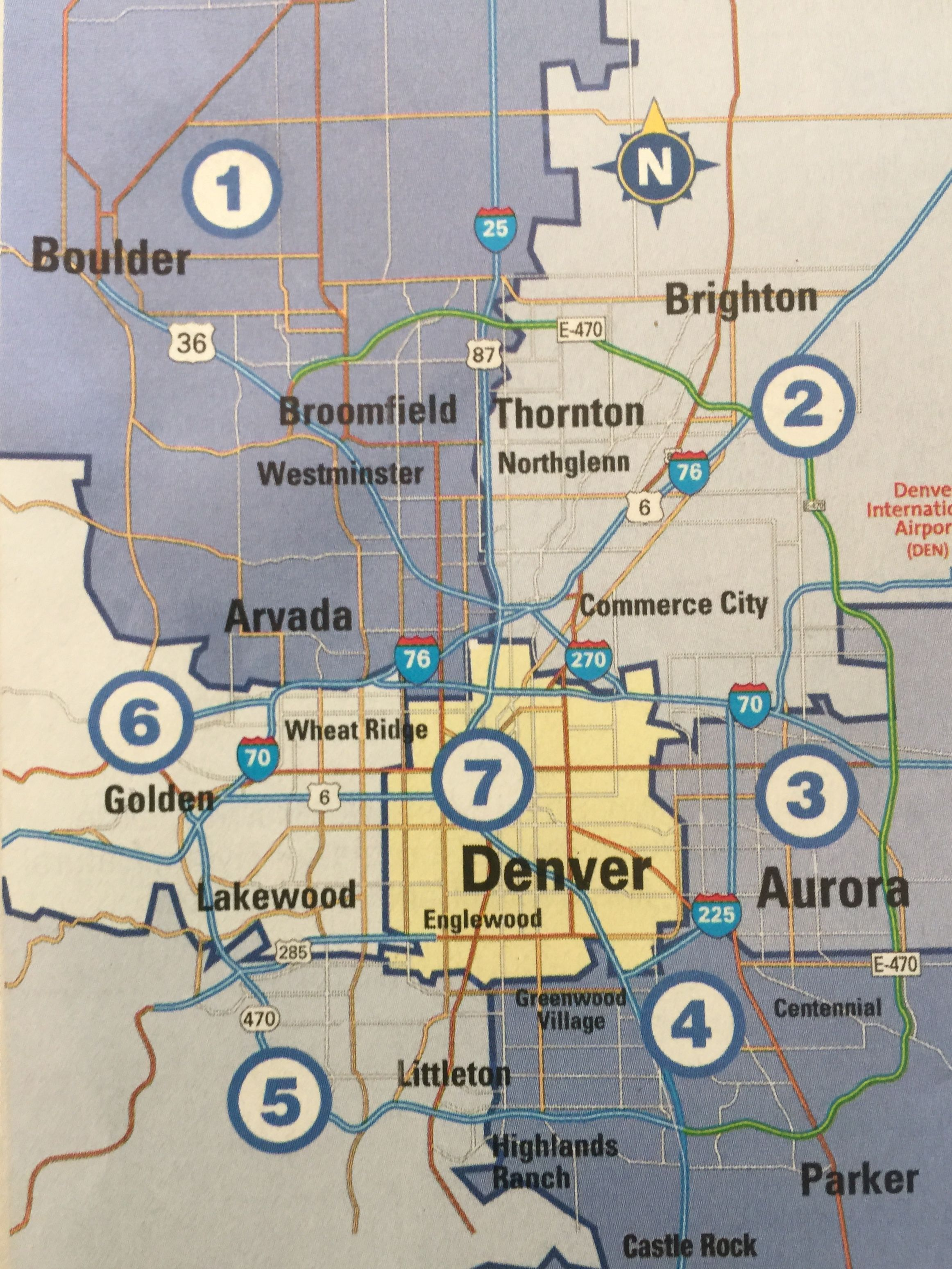 Map - Denver, Colorado and Surrounding Suburb Cities ... Denver Suburbs Map on