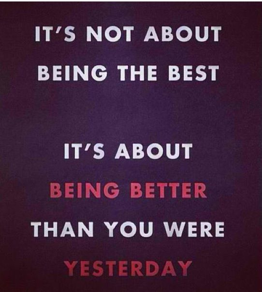 Philosophy Always Strive To Be Better Than Yesterday New Day New