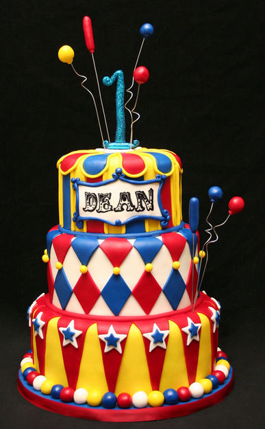 Enjoyable 30 Circus Birthday Party Cake Ideas Carnival Birthday Cakes Personalised Birthday Cards Veneteletsinfo