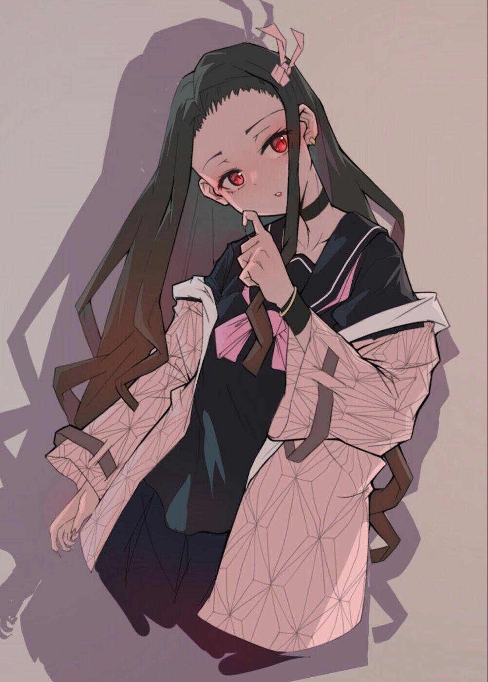 nezuko kamado 悪魔の絵アイデア, かわいいアニメガール, 可愛い キャラクター イラスト