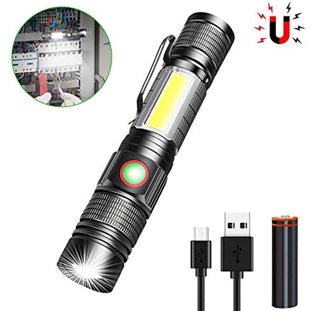 6000 Lumen Super Hell XHP50 LED Taschenlampe Wiederaufladbar Zoombar 5 Modi Taktische Taschenlampe Wasserdichte Taschenlampe mit Power Display /& Power Bank Funktion f/ür Camping