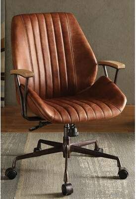 17 Stories Milan Genuine Leather Executive Chair 17 Stories