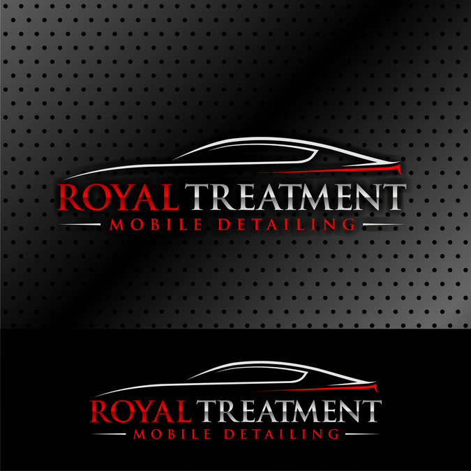 Create a logo for a mobile detailing business Purples