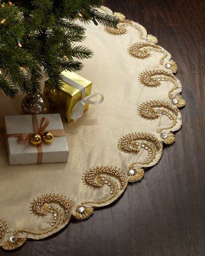 Burlap Christmas Tree Skirts