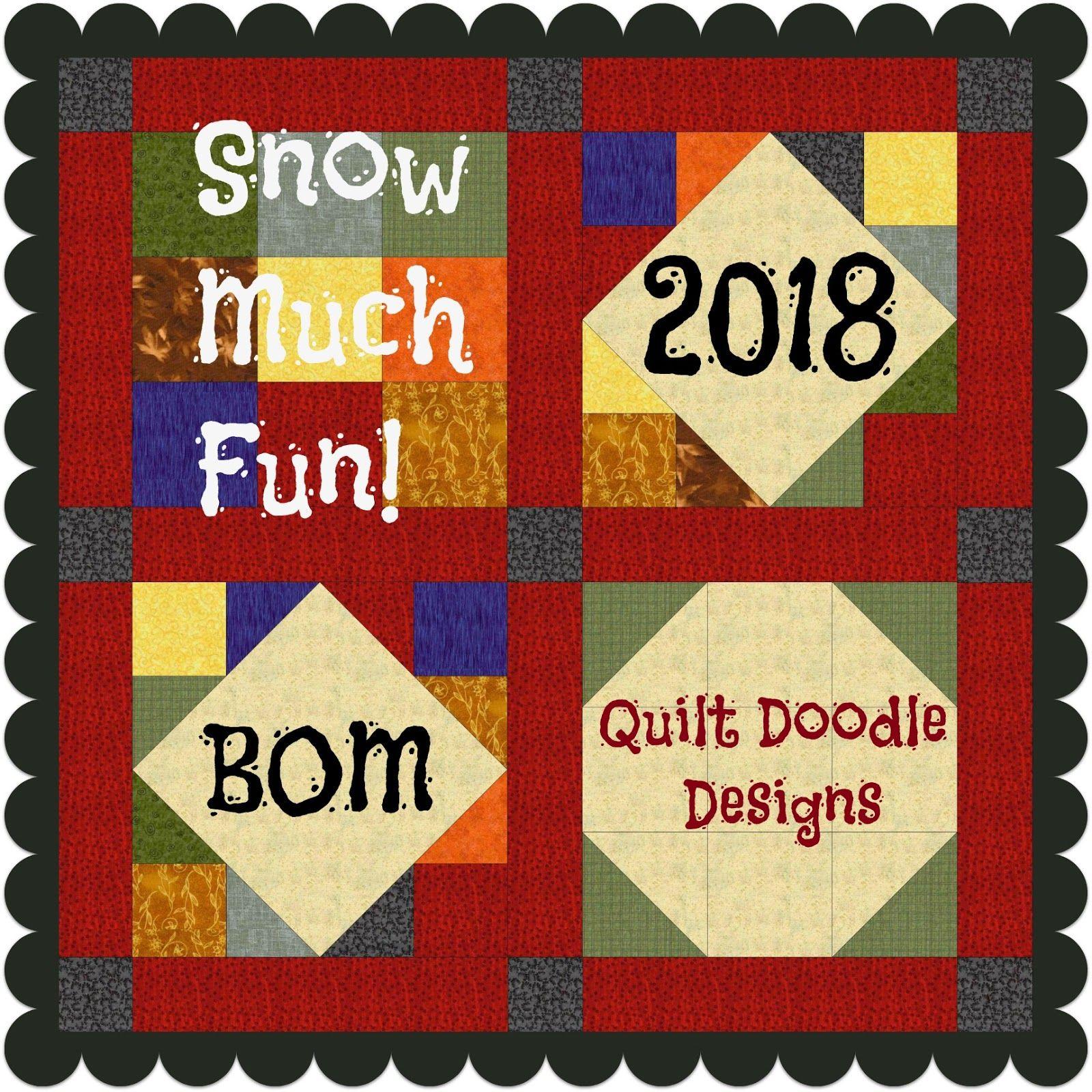 Snow Much Fun BOM 2018 Fabric Info! Snow much fun