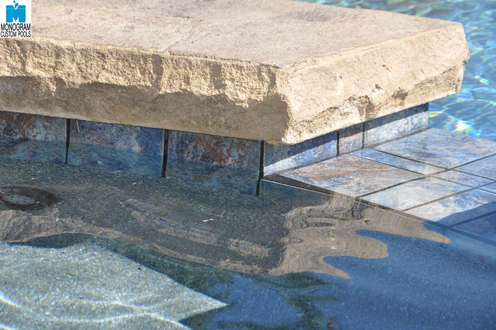 Aztec Cobalt Tile Garden Swimming Pool Pools Storage Tiles