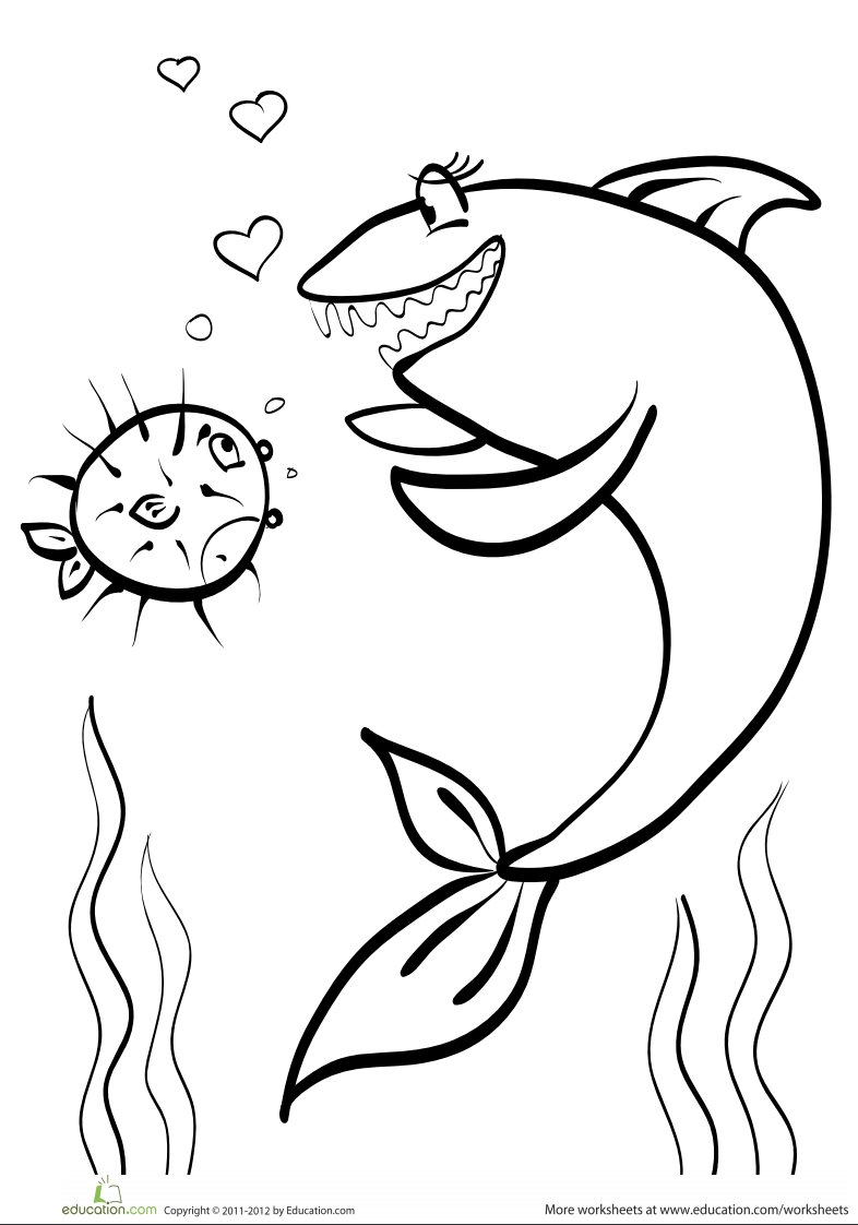 Shark coloring page | Color Books | Pinterest | Shark