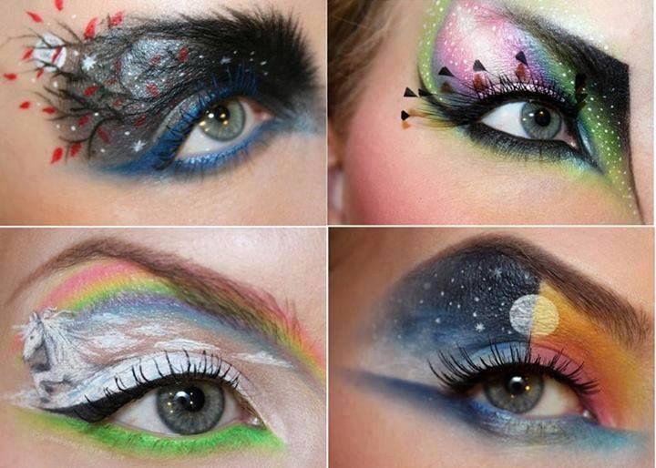 Artsy Eye Shadows Eye Makeup Art Crazy Makeup Eyeshadow Designs