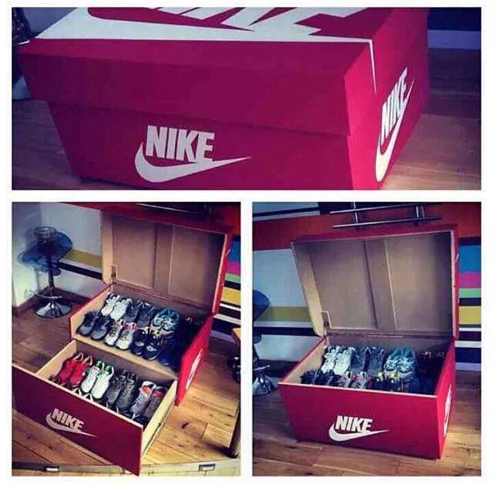 Lovely Shoe Box Closet. Retro Jordan Nike Reebok. Sneakerhead Lifestyle. Mancave