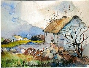 Comte Mayo Irlande Watercolor Landscape Paintings Watercolor