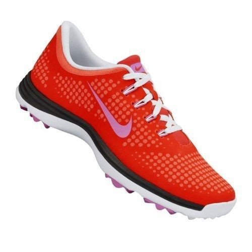 New Nike Golf Womens Lunar Empress Golf Shoe Laser Red Violet Hot Punch 7 5 M Golf Shoes Nike Nike Golf