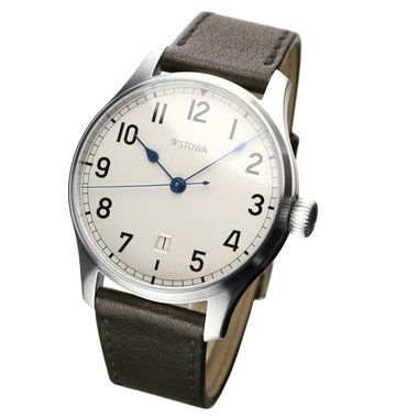 STOWA Marine A 10, sterling silver dial and date, matt case. Lovely watch - classic, simple. $1,600.