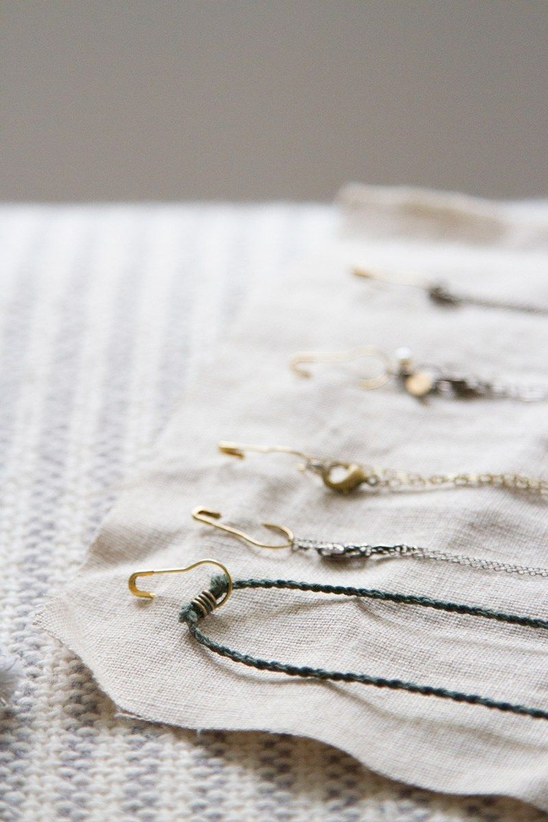 make your own: necklace organizer.