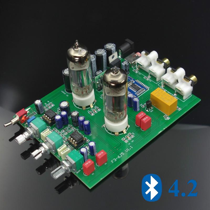 Bluetooth 6j5 Tube Preamplifier Preamp Tone Enlarge Ne5532 Ezbuypay Audio Amplifier Bluetooth Tube