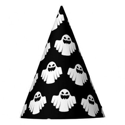 Halloween Ghost Cartoon Illustration 07 Party Hat Halloween Hats Party Ideas Idea Accessories Halloween Party Supplies Halloween Hats Ghost Cartoon