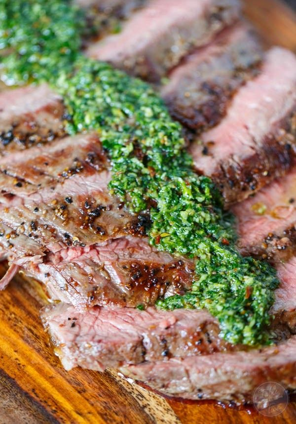 Grilled flank steak with chimichurri sauce is the perfect summertime recipe! Dust off those grills and get this delicious recipe on the grill ASAP!