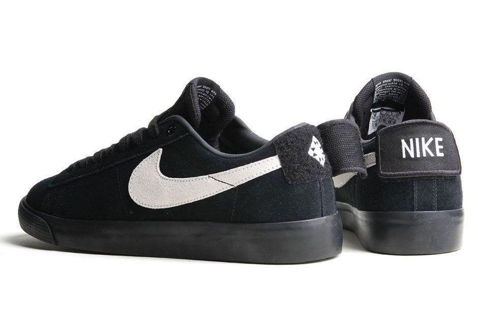 Nike Sb Blazer Low Gt Black White 943849 010 Sneakernews Com Nike Nike Blazer Nike Sb