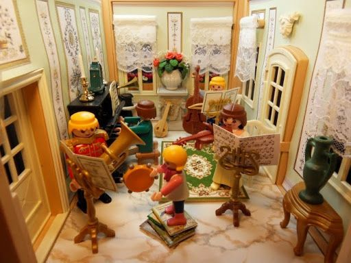 Playmobil Wohnzimmer ~ Victorian playmobil by emma j music room toys lego playmobil