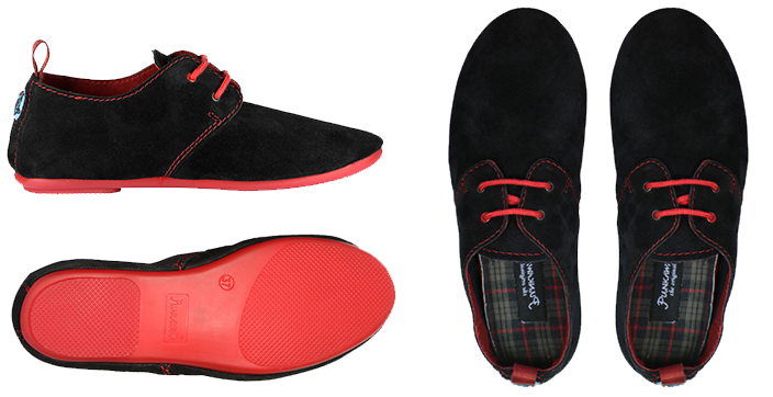 Women's Black Punka Shoe with Red Sole | Punkawala