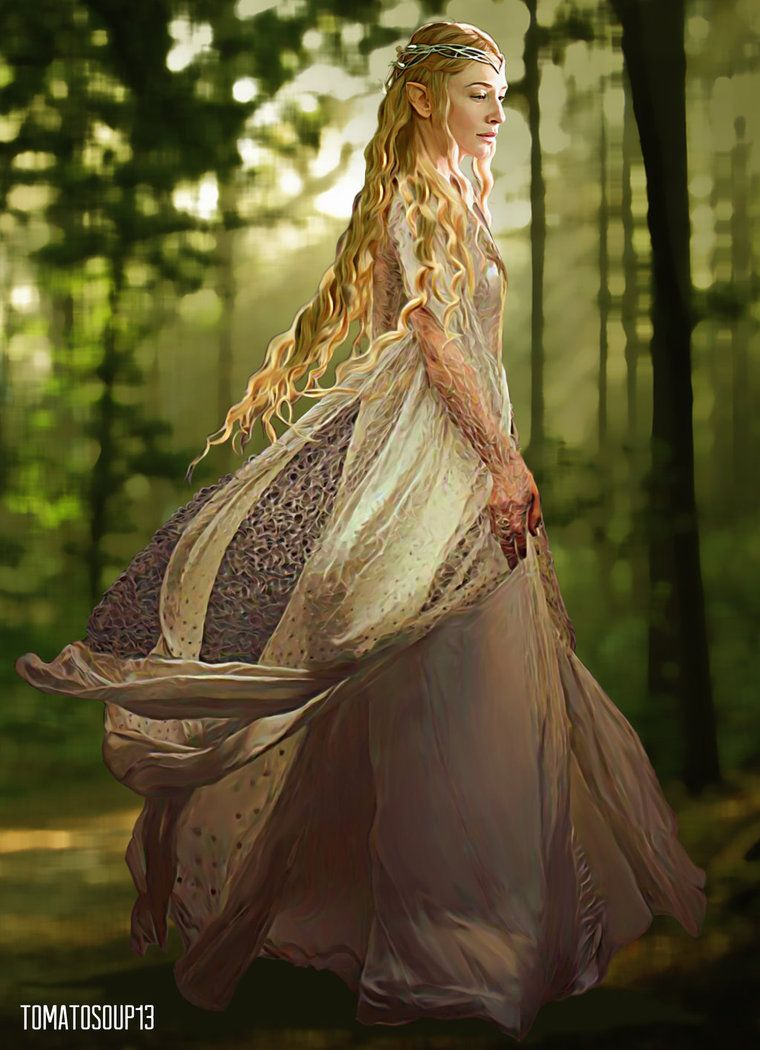 Lord Of The Rings Tarot The Hermit By Sceithailm On: Cate Blanchett By