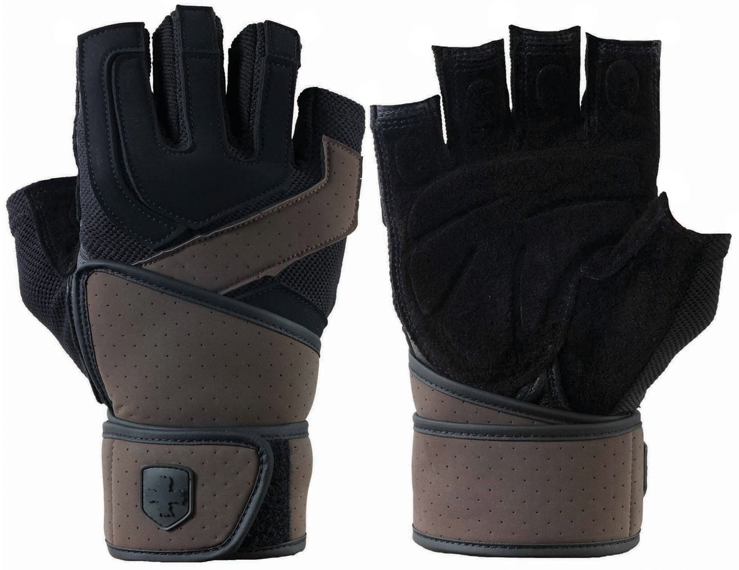 Harbinger Training Grip Wrist Wrap Glove, Black Workout