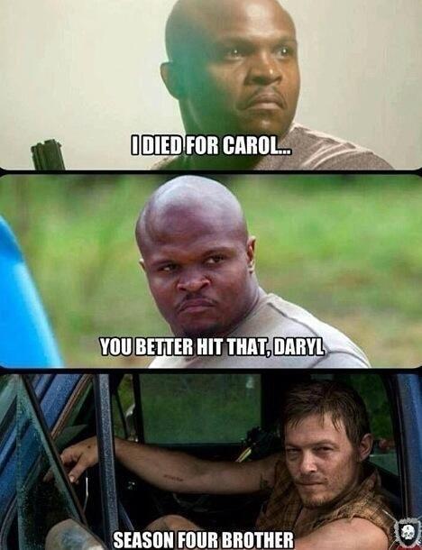 d0481085ba1711ccbfb2a8f629dcd21f norman reedus tweets meme of daryl, carol relationship in season 4,Carol Meme Walking Dead