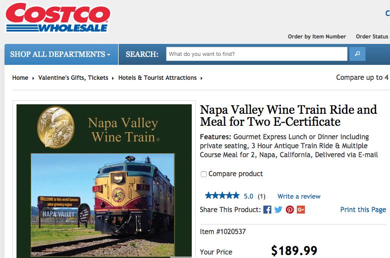 WINE TRAIN COSTCO DISCOUNT – WORTH IT? | Napa Valley