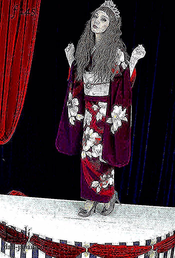#ダリ#アンティーク着物#紫色の振袖#成人式#大正ロマン#ダリ着物#着物#kimono
