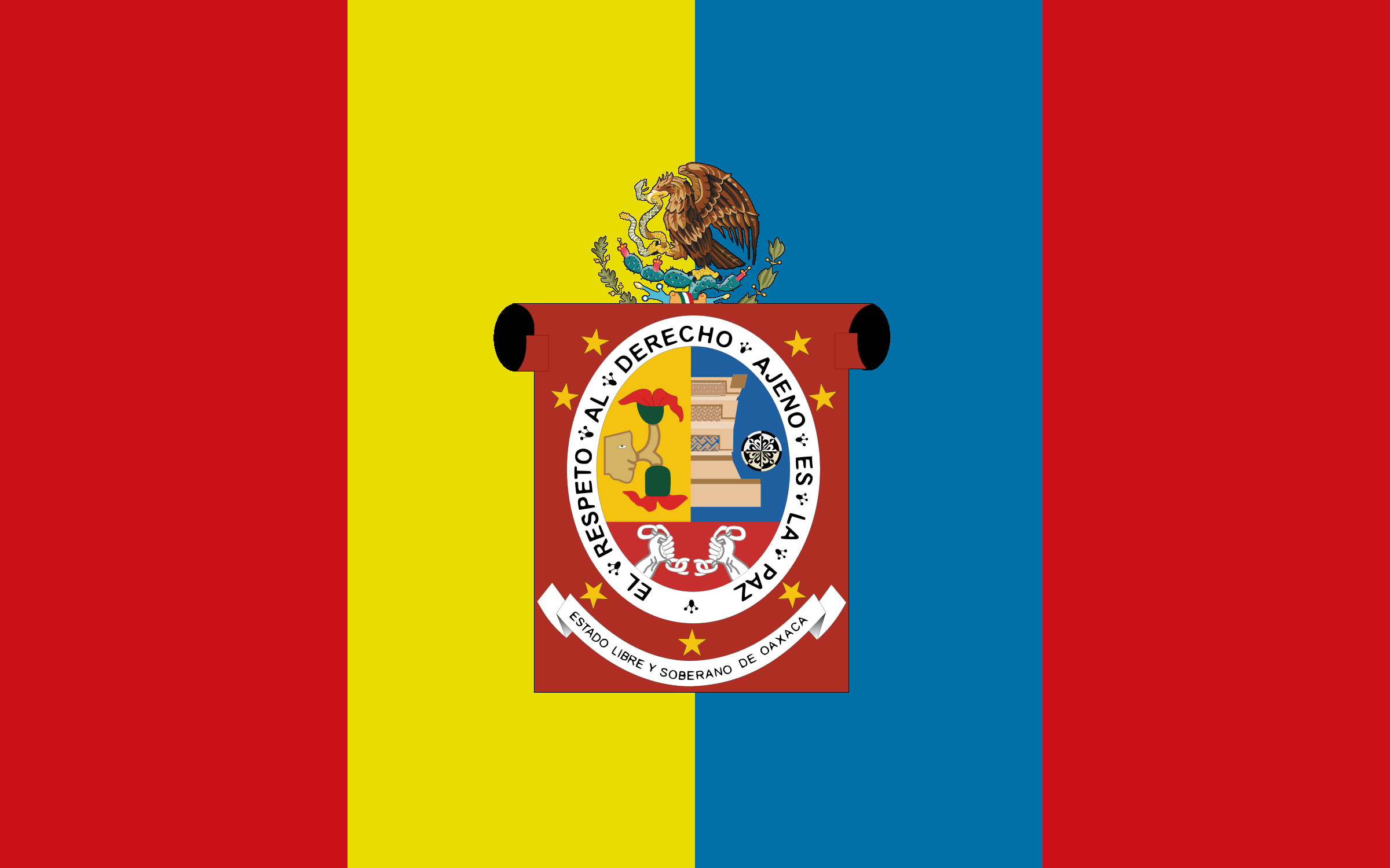 In My Opinion The Most Interesting Part Of Oaxaca S History Is That During Mexico S 1920 Revolution Against Spain Oaxaca Remaine Flag States Of Mexico Mexico
