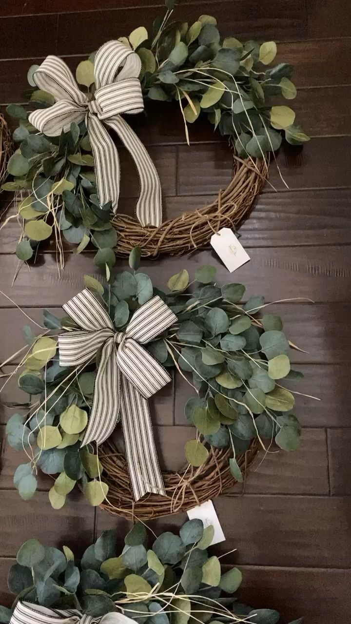 Photo of Farmhouse eucalyptus wreaths